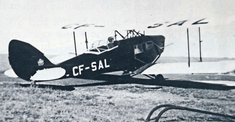 Saskatchewan Government Airways' De Havilland Fox Moth CF-SAL.